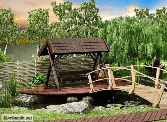 Деревенский стиль в ландшафтном