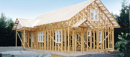 Схема сборки каркасного дома из досок по канадской технологии