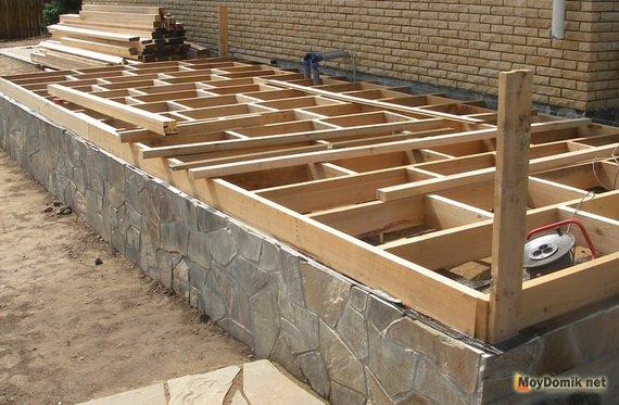 Строительство террасы на даче своими руками
