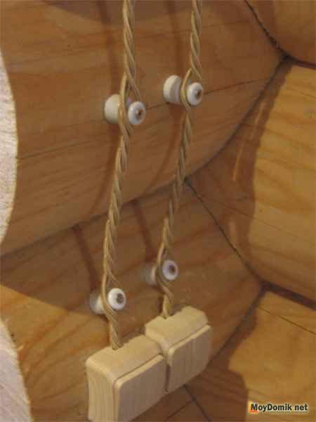 Ввод электричества в деревянный дом