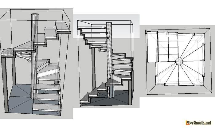 Лестница своими руками схема 767