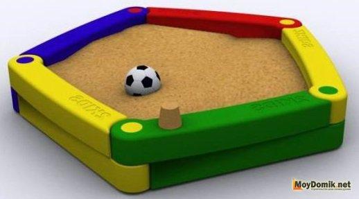 Детская песочница из пластика