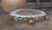 Детская песочница из кирпича или камня