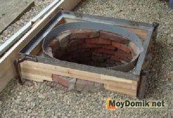 Колодец из бетонных пластин