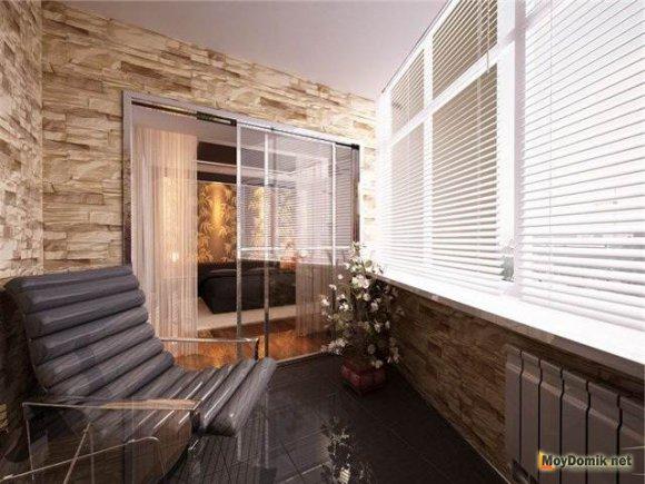 Декоративное оформление утепленного балкона