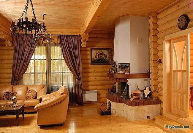 Стиль шале в интерьере деревянного дома фото