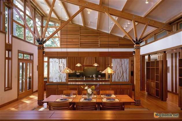 Дизайн кухни и столовой в классическом стиле