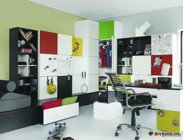 Молодежный интерьер комнаты для подростка