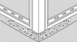 Нижний край угла, обрезаный по ширине стартовой планки