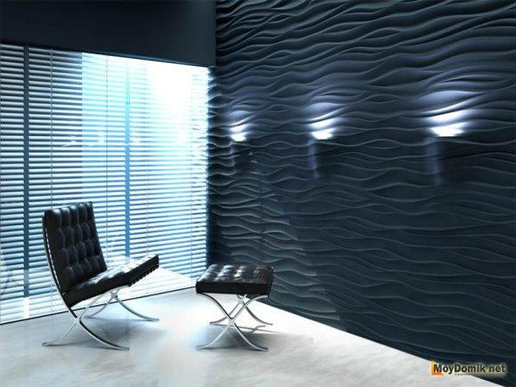 Дизайнерские 3д стеновые панели с LED подсветкой