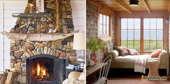 Интерьер деревянного дома внутри – стили оформления фото