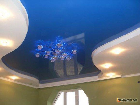 Дизайн двухуровневого потолка из гипсокартона