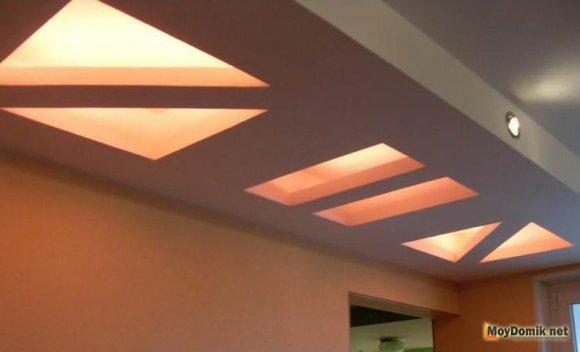 Двухуровневый потолок из гипсокартона - оригинальная конструкция