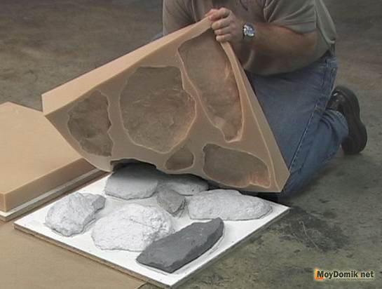 Декоративный камень из гипса своими руками
