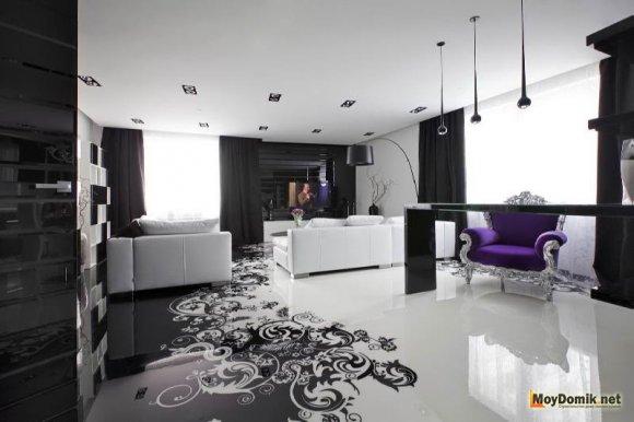 Спальня в черно-белых оттенках