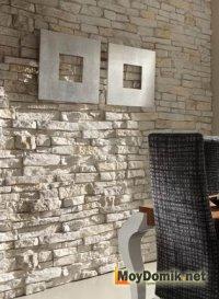 Декоративный камень из гипса в интерьере