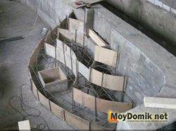 Устройство ступеней для бассейна