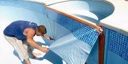 Крепление пленки для бассейна
