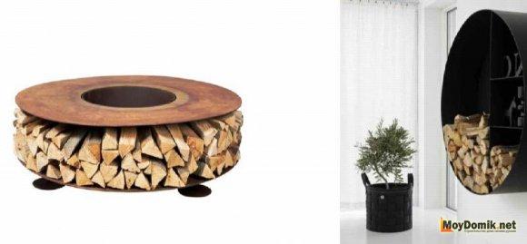 Хранение дров для камина