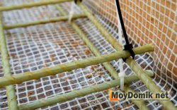 Вязка композитной арматуры пластиковыми хомутами