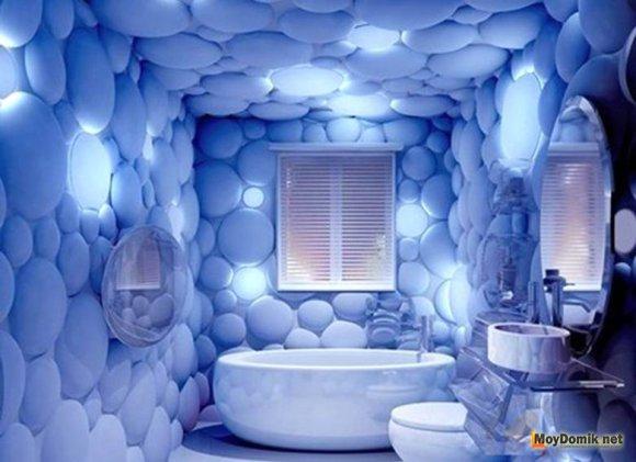 3Д панели в интерьере ванной комнаты
