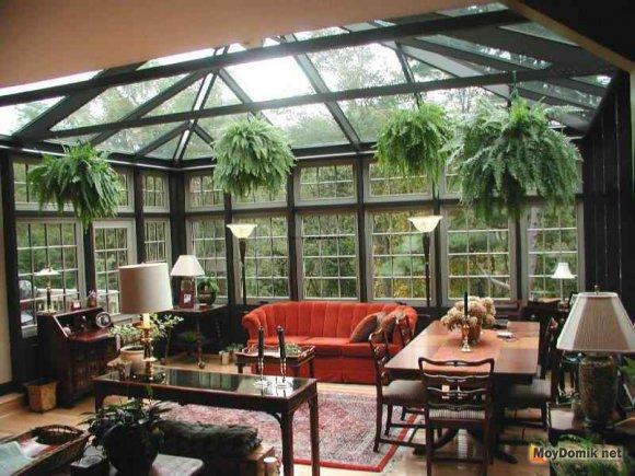 Зимний сад - пристройка к дому