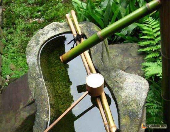 Элемент оформления зимнего сада в японском стиле