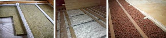 Утепление чердачного перекрытия по деревянным балкам минватой