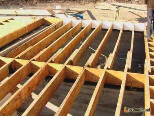 Схемы межэтажных перекрытий по деревянным балкам