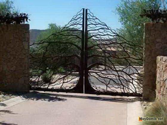 Ворота во двор своими руками