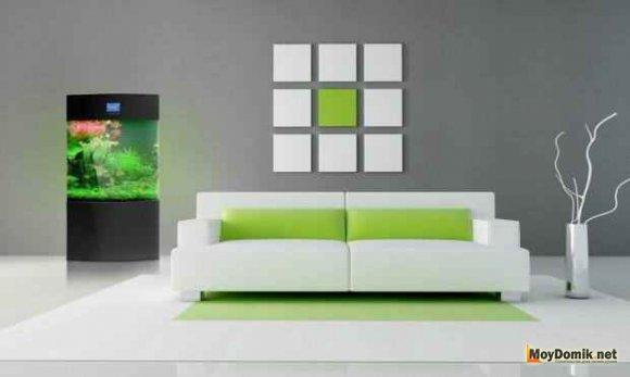 Отделка стен в стиле минимализм