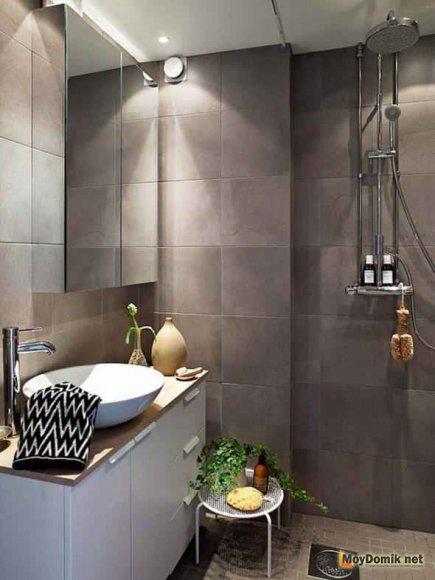 Эко-минимализм в интерьере ванной комнаты