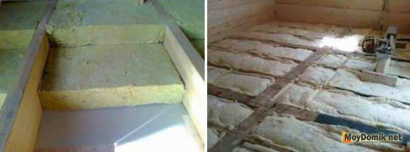 Утепление межэтажных перекрытий по полу - минвата
