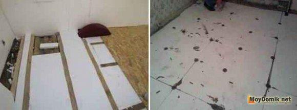 Утепление межэтажных перекрытий по полу - пенопласт