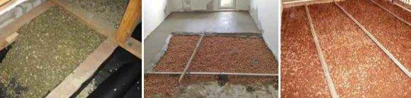 Утепление межэтажных перекрытий по полу - керамзит