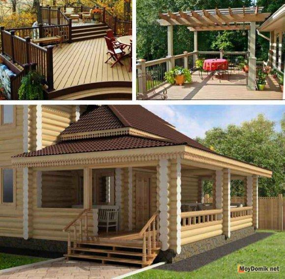Крыша для деревянной террасы