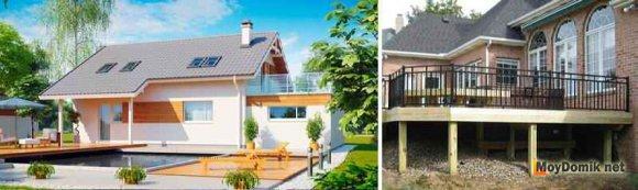 Конструкция деревянной террасы - на земле или поднятая над землей