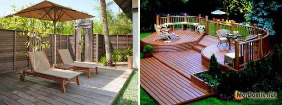 Конструкция деревянной террасы - одноуровневая или многоуровневая терраса