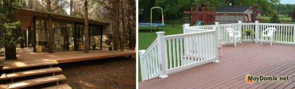 Ограждение для деревянной террасы