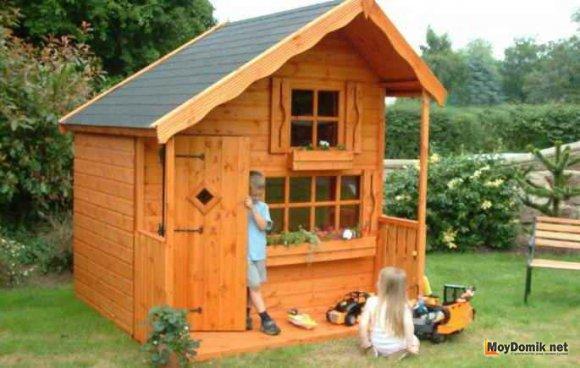 Детский деревянный домик для дачи своими руками схема фото 25
