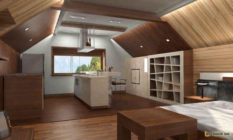 Дизайн комнаты мансардного этажа 834