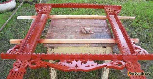 Защитная обработка наличников из дерева