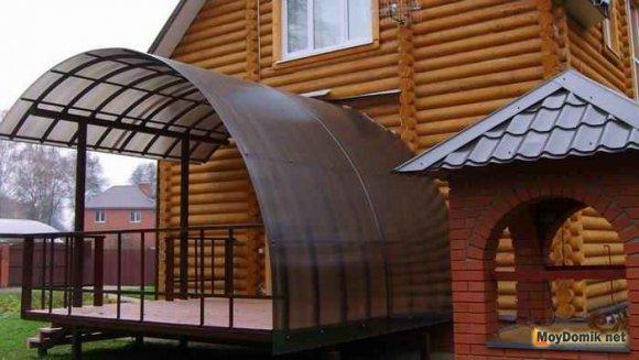 Ограждения для террас из поликарбоната