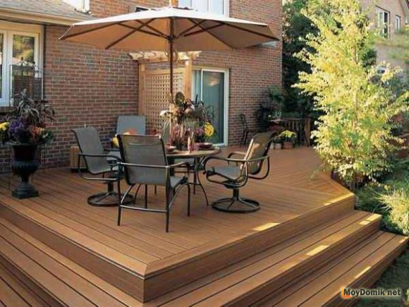 Красивая деревянная терраса