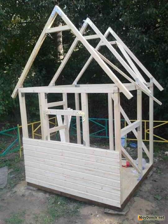 Крыша для детского домика своими руками