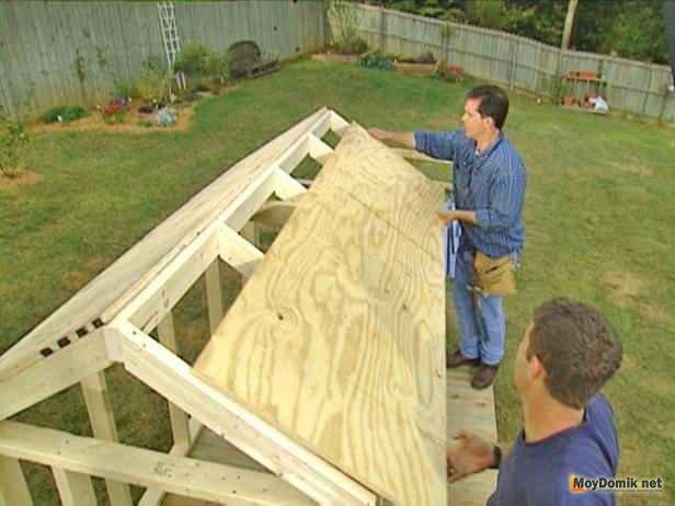 Как сделать крышу для домика своими руками 847