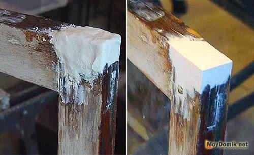 Восстановление сгнивших участков оконной рамы - 2