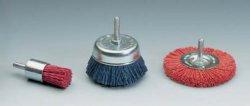 Насадки для дрели шлифовочные - щетки абразивно-полимерные нейлоновые