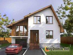 Простая асимметричная двускатная крыша