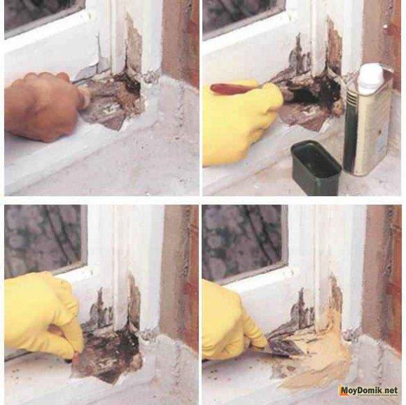 Ремонт деревянных окон - последовательность нанесения шпаклевки
